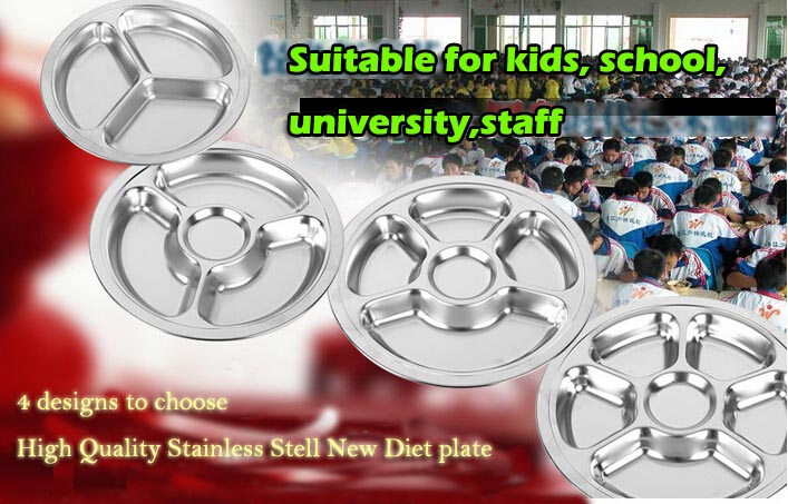 stainless steel new diet plate