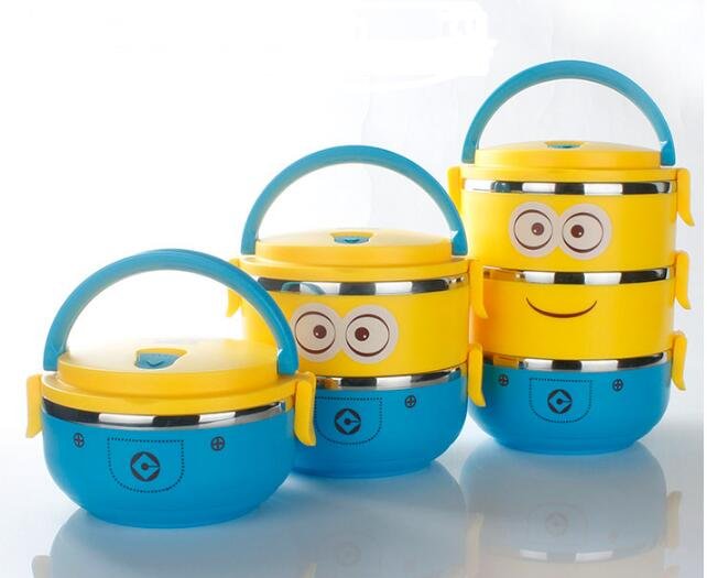 Minions 4 layer food container